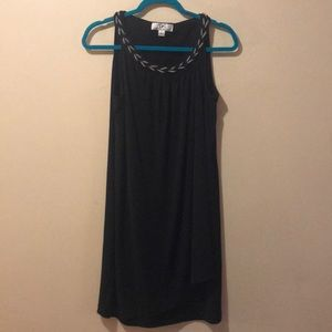 Black Layered dress size 12 black & silver details